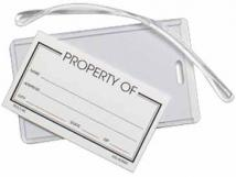 Clear Slip-in Pocket Luggage Tag (Blank)
