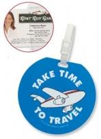 Recycled Jumbo Round Slip-in Pocket Golf/Bag Tag