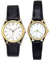 Pedre - Ritz Men & Women Gold-tone Watch/Lizard-grain Strap