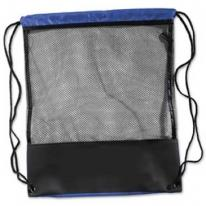 See-Thru Mesh Drawstring Backpack