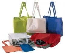 "Faux Cloth Tote Bags W/ Shoulder Strap (16""x6""x12"")"