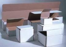 "White Corrugated Mailer Box (4-3/8""x4-3/8""x2-1/2"")"