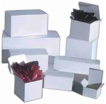 High Gloss White Folding Gift Boxes 5 x 5 x 3