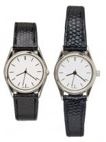 Pedre- Ritz Men & Women Silver-tone Watch/Lizard-grain Strap