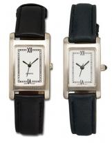Pedre - Nouveau Men's Silver-tone Watch With Leather Strap