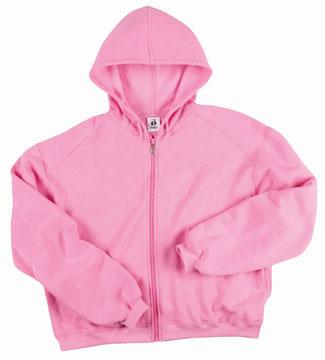 Ladies's Full Zip Crop Hood