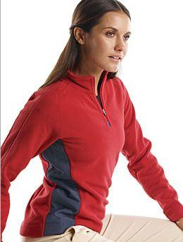 Ladies' Micro Fleece Quarter Zip Pullover