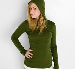 Ladies' Baby Rib Long Sleeve Hoody