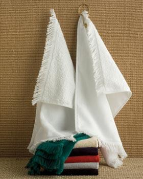Towels Plus Fringed Fingertip Towel w/ Grommet
