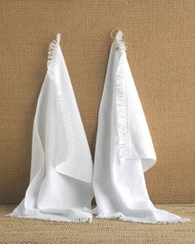Towels Plus Fringed Hand Towel with Grommet