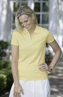 Ladies' Pima Cotton Pique Solid Johnny Collar Sport Shirt