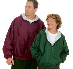 Youth Hooded Taffeta Fleece Jacket
