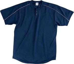 Youth Wicking Two-Button Baseball Jersey