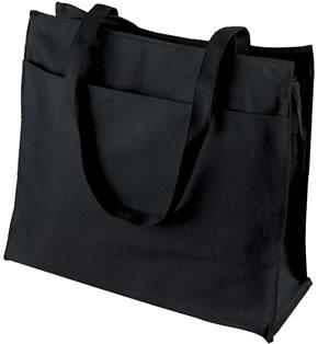 Guesset Tote With Zipper