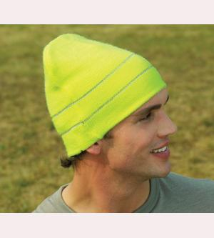 Adult Hi-Visibility Safety Knit Beanie Cap