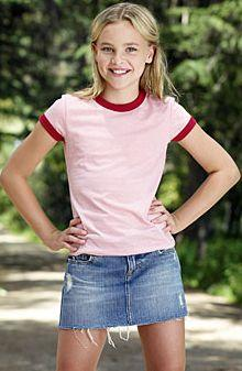 Girls' Short Sleeve Heather Ringer T-Shirt