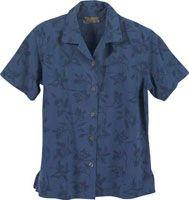 Ladies' Mackinac Flower Print Silk Camp Shirt