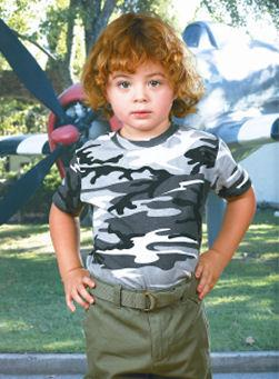 Toddler Camouflage Short Sleeve Shirt