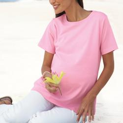Scoop Neck Maternity Cotton Tee