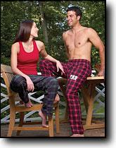 Flannel Tie Cord Pants