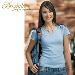 Ladies' V-Notch Keyhole Tee