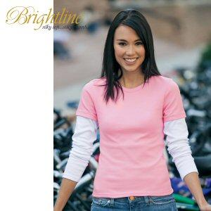Ladies' Long Sleeve Twofer Tee