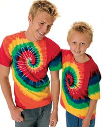 Youth Rainbow Spiral Tee