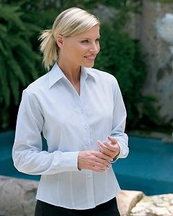 Ladies' Dupont Wrinkle Resistant and Stain Release Yarn-Dye Dobby Shirt
