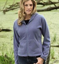 Ladies' Microfleece Full-Zip Hooded Jacket