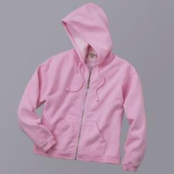 80% Cotton 20% Polyester Ladies Full Zip Hooded Sweatshirt
