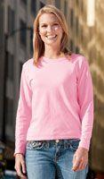 Pigment Dyed Ladies' Long Sleeve T-Shirt