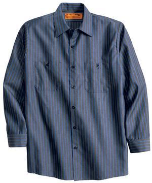 Long Sleeve Industrial Work Shirt- Grey Blue