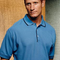 Men's Tipped Pique Polo