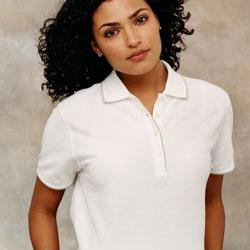 Ladies' Tipped Pique Polo.