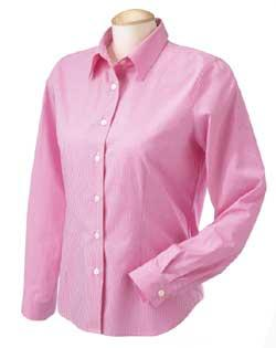 Ladies Gingham Poplin Shirt