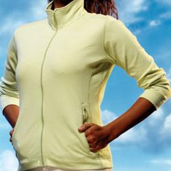 Ladies Peruvian Pima Interlock Full Zip