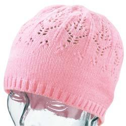 Ladies' Pointelle Chenille Beanie