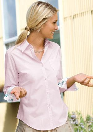 Ladies Brushed Cotton Shirt with Pocket