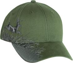 Buck Olive Wildlife Design Cap