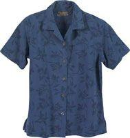 Mackinac Flower Print Silk Camp Shirt