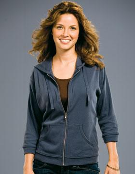 LADIES 3/4 Sleeve Full Zip Hood