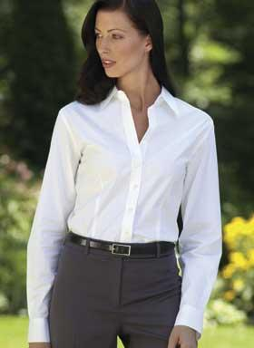 LADIES Stretch Cotton Poplin Shirt