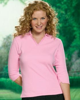 LADIES 3/4 Fine Rib Sport Shirt