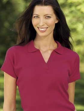 LADIES Fine Rib Sport Shirt