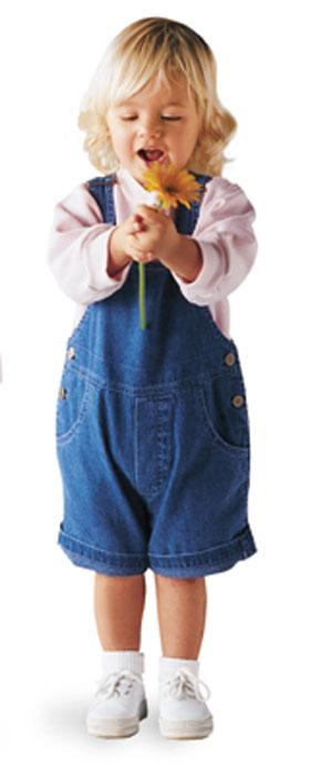 Toddler Denim Shortall