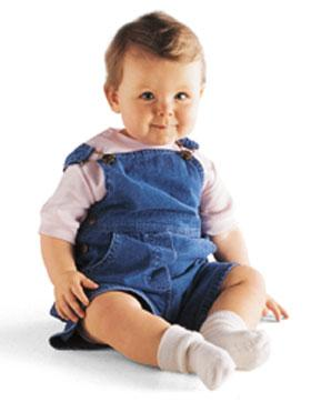 Infant Denim Shortall