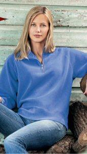 Ladies' Pigment Dyed Quarter Zip Sweatshirt