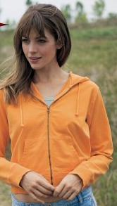Ladies' Pigment Dyed Supper Fleece Crop
