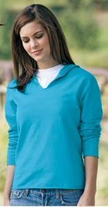 Ladies' Pigment Dyed Hooded Pullover Summer Fleece
