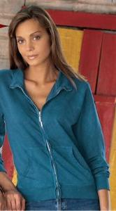 Juniors' Pigment Dyed Summer Fleece Jacket